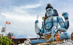 God Shiva statue at Hindu temple in Trincomalee, Sri Lanka
