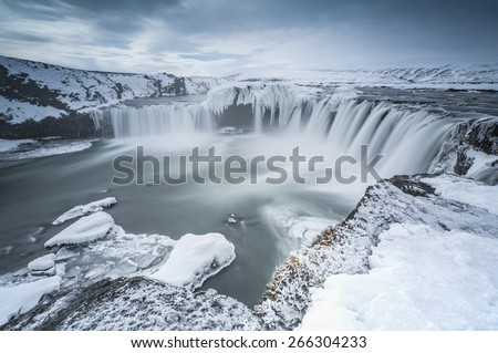 Godafoss Iceland is one of the most spectacular waterfalls in Iceland.