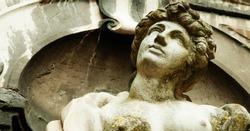 Goddess of love in Greek mythology, Aphrodite (Venus in Roman mythology) Fragment of ancient statue.