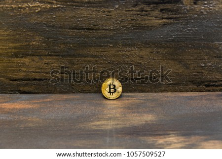 goden bitcoin on dark bronze background #1057509527