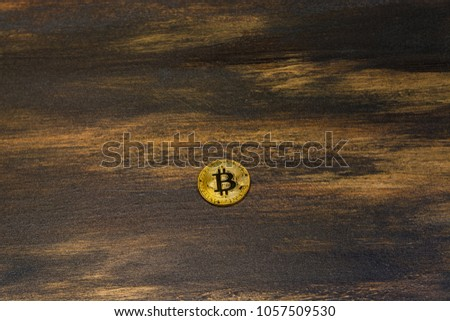 goden bitcoin on dark bronze background #1057509530