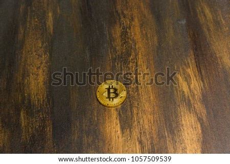 goden bitcoin on dark bronze background #1057509539
