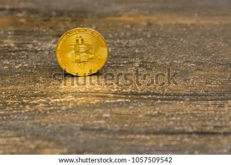 goden bitcoin on dark bronze background #1057509542