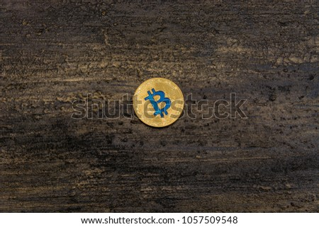 goden bitcoin on dark bronze background #1057509548
