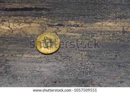 goden bitcoin on dark bronze background #1057509551