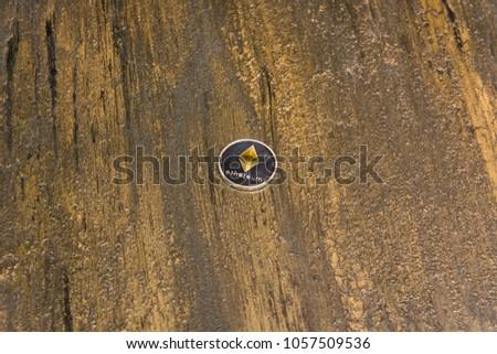 goden ethereum on dark bronze background #1057509536