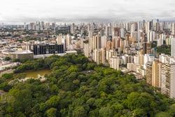 Goias Legislative Assembly next to the Buritis Forest, Goias, Brazil