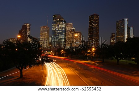 Going out in Houston - City skyline at night
