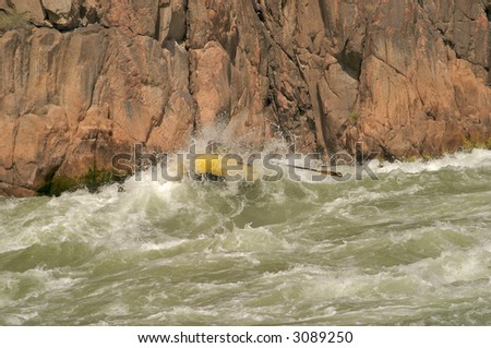 Going through Granite Rapids in Grand Canyon