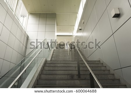 Going up on the MRT staircase #600064688