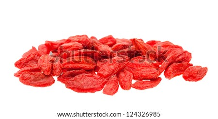 Goji berries isolated on white