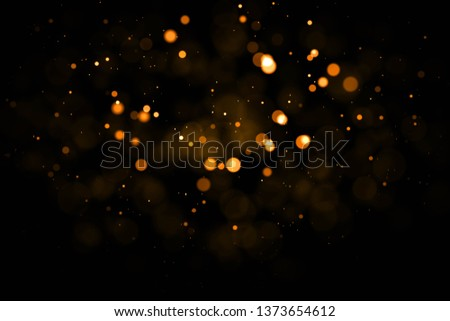 Gold abstract bokeh background. #1373654612
