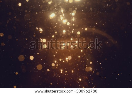 Gold abstract bokeh background #500962780