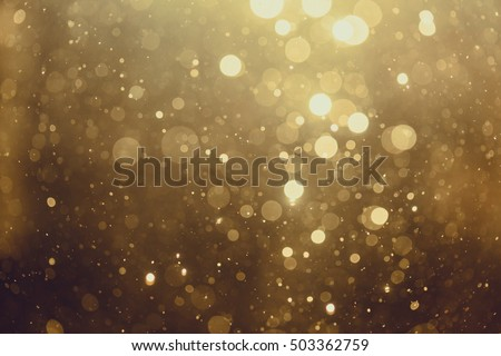 Photo of  Gold abstract bokeh background