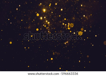 Gold abstract bokeh background - Shutterstock ID 596663336