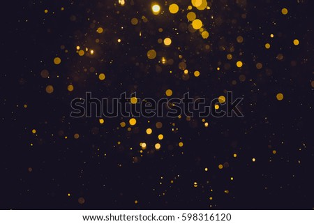 Gold abstract bokeh background - Shutterstock ID 598316120