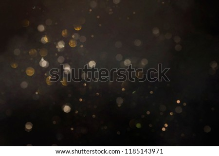 Gold abstract bokeh background, Merry Christmas and New Year background #1185143971