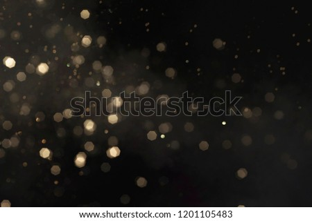 Gold abstract bokeh background, Merry Christmas and New Year background #1201105483