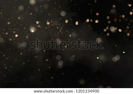 Photo of  Gold abstract bokeh background, Merry Christmas and New Year background