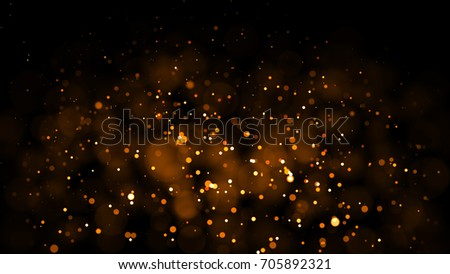 Gold abstract bokeh background. real backlit dust particles with real lens flare. glitter lights . Abstract Festivevintage lights defocused. Christmas and New Year feast. - Shutterstock ID 705892321