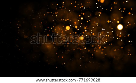 Gold abstract bokeh background. real backlit dust particles with real lens flare. glitter lights . Abstract Festivevintage lights defocused. Christmas and New Year feast. - Shutterstock ID 771699028