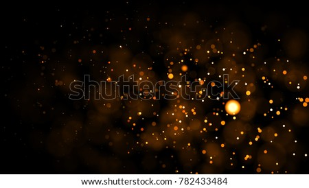 Gold abstract bokeh background. real backlit dust particles with real lens flare. glitter lights . Abstract Festivevintage lights defocused. Christmas and New Year feast. - Shutterstock ID 782433484