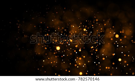 Gold abstract bokeh background. real backlit dust particles with real lens flare. glitter lights . Abstract Festivevintage lights defocused. Christmas and New Year feast. - Shutterstock ID 782570146