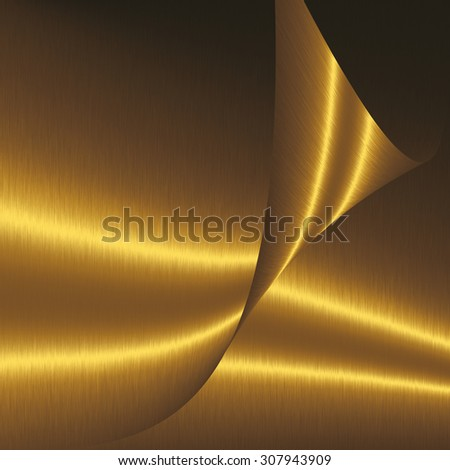gold abstract shapes folded sheets of smooth metal
