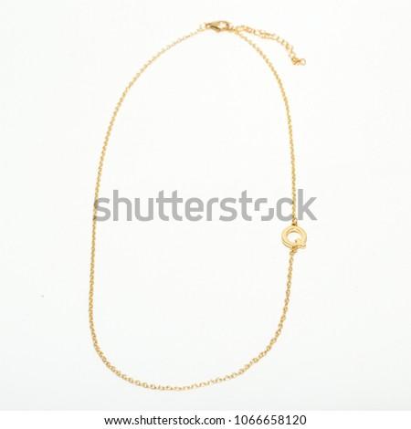 gold alphabet necklaces #1066658120