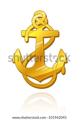 Gold Anchor.   Raster version.
