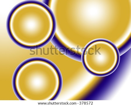 gold and blue circles