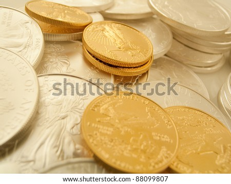 Gold and Silver U.S. Bullion Coins #88099807