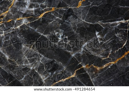 Gold and white Patterned natural of dark gray marble (Gold Russia) texture background for product design. #491284654
