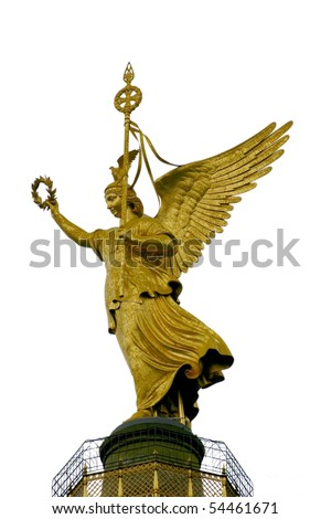 gold angel on white background