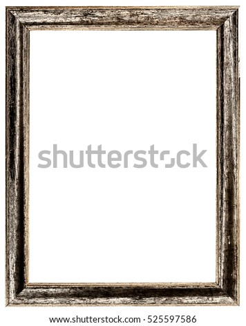 gold antique frame isolated on white background  #525597586