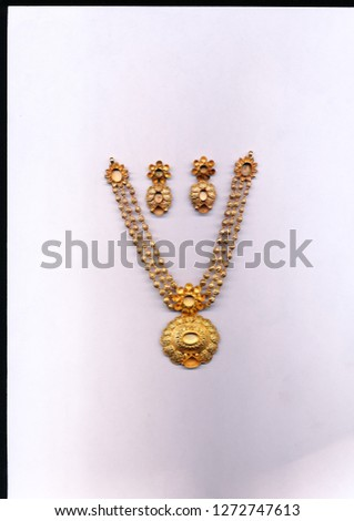 Gold antique jewellery beautiful necklace  #1272747613