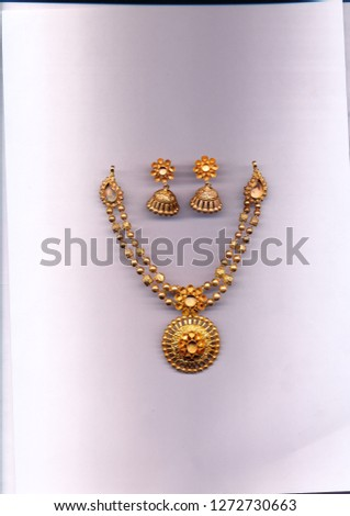 Gold antique necklace  #1272730663