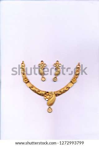 gold antique necklace new design  #1272993799