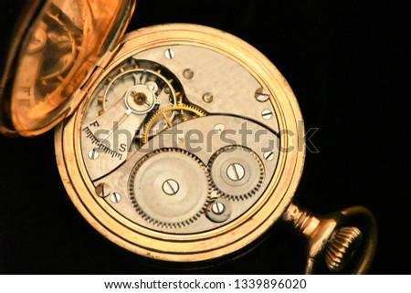 gold antique pocket watch #1339896020