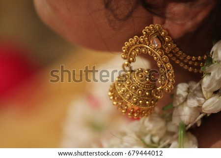 Gold Antique Ruby Jhumka #679444012