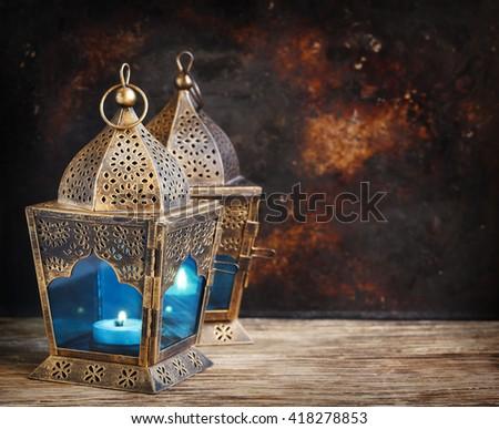 Gold Arabic Lanterns