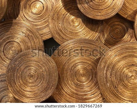 Gold artificial bamboo pattern background Photo stock ©