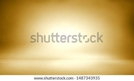 Gold background - empty background - empty studio room stock photo