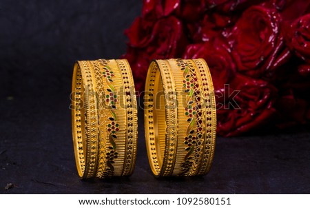 Gold Bangles Photography - Shutterstock ID 1092580151