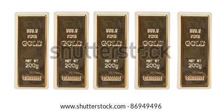 Gold bar top view