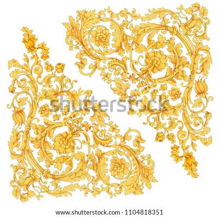gold baroque, baroque design