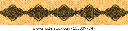 Gold baroque Texture. Mexican Artisan Design. Elegant Pattern Gold. Yellow Seamless Watercolor Border.  Mexican Artisan Design. Luxury Pattern Wallpaper.