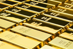 Gold bars background. Financial concepts.