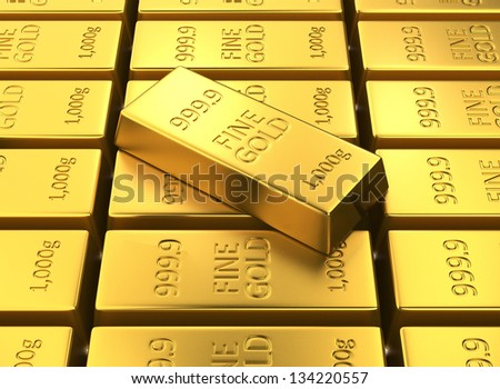 gold bars ingots