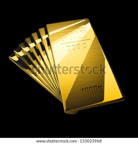 gold bar black background - photo #11